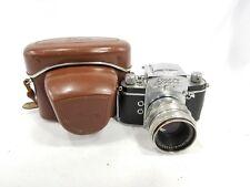 EXA IHAGEE DRESDEN SLR 35mm CAMERA w/58mm f2 Carl Zeiss Jena Lens. Germany.