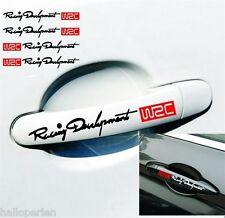 HP 1 Set riflettente il WRC AUTO MANIGLIA PORTA Manopola Adesivo Auto Decalcomania 13x9.4 cm