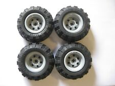 Lego 56x26 Technic Balloon Tires LOT OF 4 with GRAY Wheels NXT Mindstorms