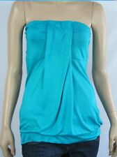 Women's Crossroads Turquoise Bandeau Boobtube Stretch Strapless Comfy Top 14 NWT