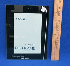 """Picture Frame Photograph 4x6 Glass Black & White w/ Flower """" Follow Your Bliss """""""