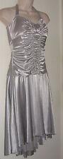 "City Studio Platinum Gathered Dress Medium (Runs Small) Bust 32"" NWT"
