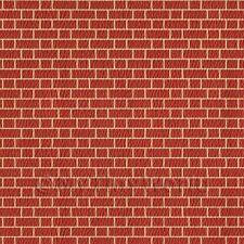 javis embossed Red Brick wall dolls house paper