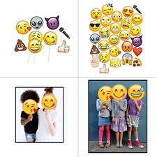 Emoji Party Props Mask Funny Selfie Photo Booth Faces for Kids Event Photography