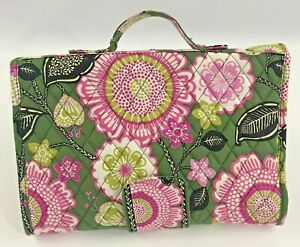 Vera Bradley Changing pad, Olivia Pink floral pattern, folds and has a handle