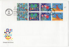 SSS: US Fleetwood Oversize FDC 2000  33c  Stampin the Future  BK8  Sc #3414-17