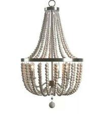 Kenroy Home Dumas 93131 3 Light Wood Bead Chandelier (missing chain) bohemian
