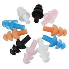 4 Pairs RANDOM COLOR Soft Silicone Earplugs Flexible Ear Plugs Swimming Sleeping