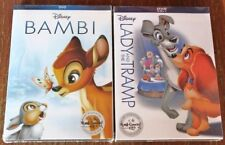 DISNEY BAMBI + LADY & THE TRAMP DVD COMBO - NEW & SEALED + FREE PRIORITY POST