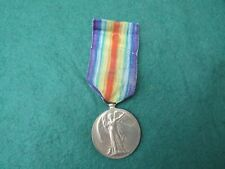 WW 1 1914 - 1919 VICTORY MEDAL TO 252995 PTE. W. A. WOOD. MANCHESTER REGIMENT