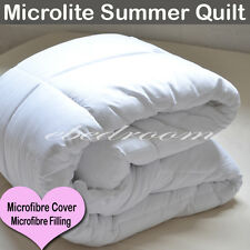 New White 350gsm Queen MicroLite Summer Quilt/Duvet w microfibre cover RRP $272