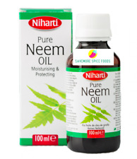 NIHARTI 100% PURE NEEM OIL - FOR DAMAGED SKIN, HAIR, TEETH & ANTI AGEING - 100ml
