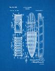 Surfboard Patent Print Blueprint