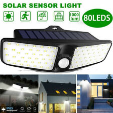 80LED Dual Security Detector Solar Spot Light Motion Sensor Outdoor Floodlight