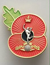 Royal corps Of signals ( RCS ) Poppy Pin-Gold/Silver