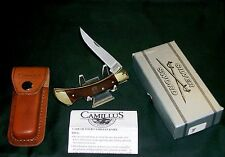 """Camillus USA Lockback Knife & Sheath """"SFO"""" for Beck's Hybrids W/Package & Papers"""