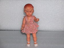 VINTAGE CUTE ARADEANCA RUBBER DOLL - GIRL, ROMANIA, 1960-70s