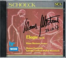 Klaus MERTENS Signiert Othmar SCHOECK Elegie Op.36 CD Gerhard Müller-Hornbach