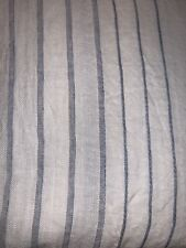 Restoration Hardware Italian Jacquard PACIFIC Stripe Linen Shower Curtain