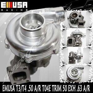 EMUSA T3/T4 Hybrid Turbo Charger .50 A/R Compressor .63 A/R Turbine Wheel