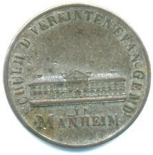 Mannheim-Stadt Silbermedaille 1823 Schul-Grundsteinlegung Evangelischen Gemeinde