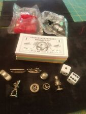 NASCAR Monopoly Game Replacement Pieces Movers+money, dice, houses, 1997 Pewter