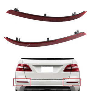Rear Bumper Reflector Lens LH+RH For Mercedes-Benz W166 ML63 ML350 ML550 12-15
