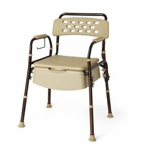 Bedside Commode with Microban, Case of 1