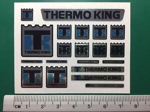TAMIYA 1/14 REEFER TRAILER 56319 chrome sticker set for front fridge THERMO KING