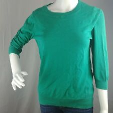 J Crew Factory Cotton Sweater Size Medium 3/4 Sleeve