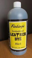 FIEBING INSTITUTIONAL LEATHER DYE (WATER BASED)  946ML  LARGE BOTTLE - BLACK
