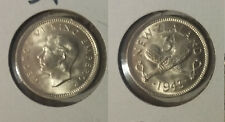 1943 New Zealand Silver 3 pence- Crossed Patu weapons-super nice