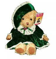 Christmas Around The World House of Lloyd Bernadette Teddy Bear Velvet Dress