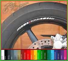 8 x SUZUKI Wheel Rim Stickers Decals - gsf 600 gsxr 750 1000 vstrom sv gsr tl s