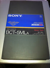 New Sony BCT-5MLA  Betacam SP Video Cassette Tapes 58m / 190ft