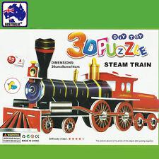 3D Foam Paper Model Steam Train Puzzle DIY Craft Toy Kid Assembling GPUZZ0102