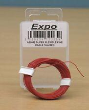 Expo A22015 - Fine Super Flexible Model Railway Wire 10m Red - 1st Class Post