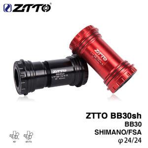 BB30sh MTB Road Bike Bottom Brackets For Shimano Prowheel 24mm Crankset Chainset
