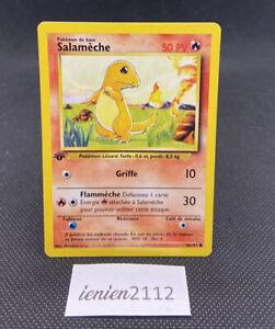 Salamèche 46/102 , carte Pokémon Set De Base Wizards Édition 1 PCA PSA