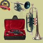 CORNET Bb PITCH TWO TONE WITH FREE HARD CASE AND MOUTHPIECE 3 VALVE