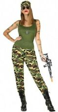 Déguisement Femme MILITAIRE XL 44 Armée Soldat Commando Rambo NEUF
