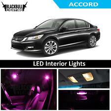 Pink LED Interior Lights Replacement Kit for 2013-2017 Honda Accord 8 bulbs