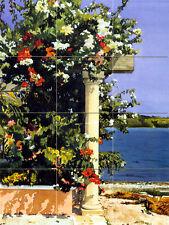 Art Flowers Sea Ceramic Tile Mural Home Kitchen Tiles Decor #181