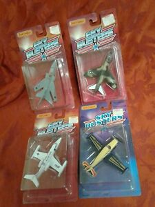4 rare vtg 1988 Matchbox Sky Busters air force plane f132 Military lot diecast