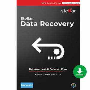 Stellar Data Recovery Software | Mac | Standard |Recover Deleted Files|Download
