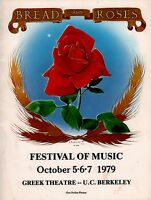 JOAN BAEZ / PETE SEEGER 1979 BREAD & ROSES FESTIVAL PROGRAM BOOK / EX 2 NMT