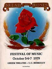JOAN BAEZ / PETE SEEGER 1979 BREAD & ROSES FESTIVAL PROGRAM BOOK / EX 2 NMT