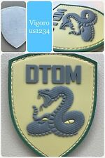 Don't Tread On Me DTOM PVC Tactical Army Snake ISAF ACU Morale 3D Patch GREEN
