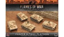 Allemand-PANZER III TANK PLATOON (plastique) - GBX96 Flames of War