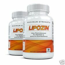 2x LIPOZIN EXTREME THERMOGENIC DIET PILLS  burn fat lose weight reduction burner